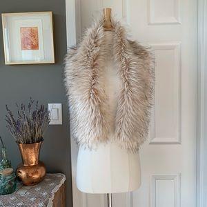 Faux fur glam shawl scarf wrap